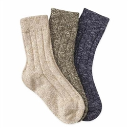 Jefferies Space Dyed Crew Boys Socks - 3 Pair