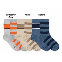 Jefferies Stripe Boys Socks - 2 Pair