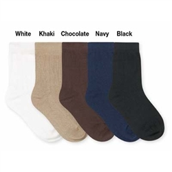 Jefferies Dress Rib Organic Crew Boys Socks - 1 Pair