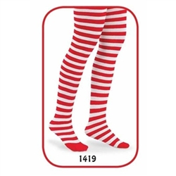 Jefferies Candy Cane Stripe Girls Tights - 1 Tights