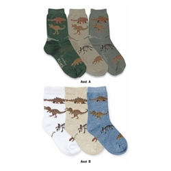 Jefferies Real Dinosaurs Boys Socks - 3 Pair