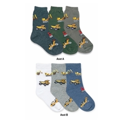 Jefferies Bulldozer Boys Socks - 3 Pair