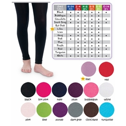 Jefferies Microfiber Footless Girls Tights - 1 Tights