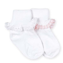Jefferies Dainty Lace Girls Socks - 1 Set