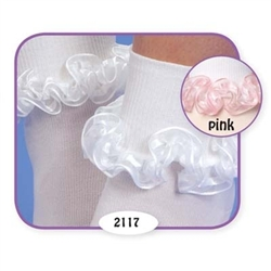 Jefferies Sheer Ribbon Tutu Girls Socks - 1 Pair