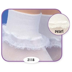 Jefferies Fancy Frills Girls Socks - 1 Pair