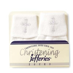 Jefferies Cotton Christening I Boys and Girls Socks - 1 Pair