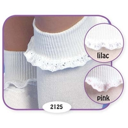 Jefferies Cluny and Satin Girls Socks - 1 Pair