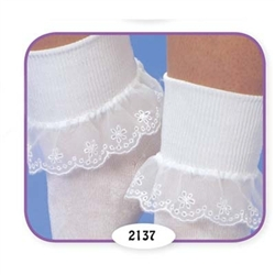 Jefferies Fancy Daisy Girls Socks - 1 Pair