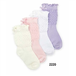 Jefferies Starburst Bow Girls Socks - 1 Pair