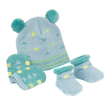 Sweet Feet 224 Mini Shapes Baby Hat Set