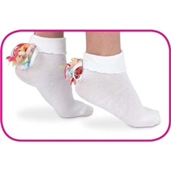 Jefferies Curly Q Girls Socks - 1 Pair