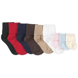 Jefferies Organic Cotton Turn Cuff Boys and Girls Socks - 1 Pair