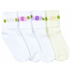 Jefferies Rosettes Baby Girls Socks - 1 Pair
