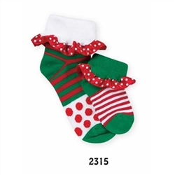 Jefferies Holiday Treat Girls Socks - 1 Pair