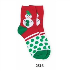 Jefferies Holly Jolly Snowman Boys Socks - 1 Pair
