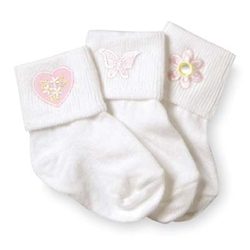 Jefferies Baby Girls Socks Collection - 3 Pair