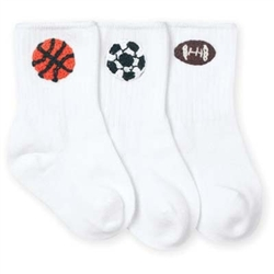Jefferies Sports Appliques Boys Socks - 3 Pairs