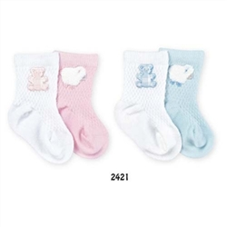 Jefferies Lambs & Bears Boys and Girls Socks - 2 Pair