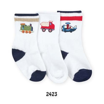 Jefferies Train, Plane and Truck Boys Socks- 1 Pair