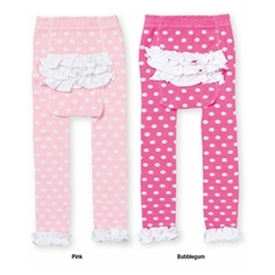 Jefferies Ruffle Dot Rhumba Girls Capri - 1 Pair