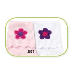 Jefferies Corduroy Flower Girls Socks - 2 Pair