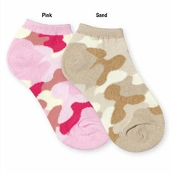 Jefferies Camo Ped Girls Socks - 1 Pair