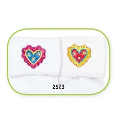 Jefferies Double Hearts Girls Socks - 2 Pair