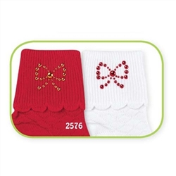 Jefferies Pretty Bows Girls Socks - 2 Pair
