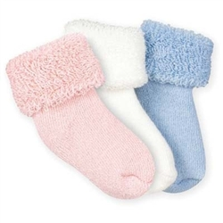 Jefferies Turncuff Terry Boys and Girls Booties - 1 Pair
