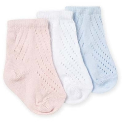 Jefferies Organic Cotton Pointelle Boys and Girls Booties for Boys and Girls - 1 Pair