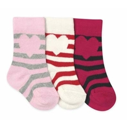 Jefferies Heart Stripe Girls Knee High - 1 Pair