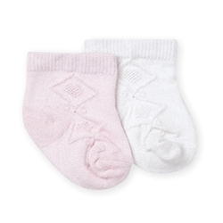 Jefferies Bamboo Heart Crew Girls Socks - 1 Pair