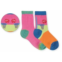 Jefferies Dunk It Girls Socks - 2 Pair