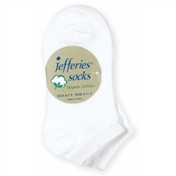 Jefferies Organic Cotton Seamless Liner Boys and Girls Socks - 2 Pair