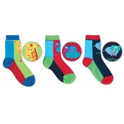 Jefferies Safari Pick A Mix Boys Socks - 3 Pairs