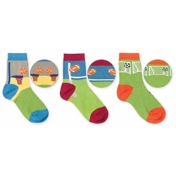 Jefferies Sport Pick A Mix Boys Socks - 3 Pairs