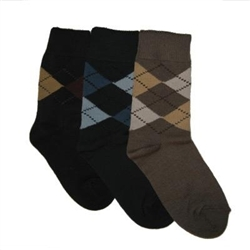 TicTacToe Argyle Assortment Boys Socks - 3 Pair