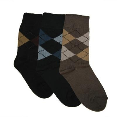 084f49d7c TicTacToe Argyle Assortment Boys Socks - 3 Pair   Shop Kids Socks at  KidsSocks.com