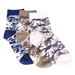 TicTacToe Jet Camouflage Boys Socks - 3 Pair