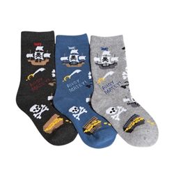 Tic Tac Toe Ahoy Matey! Boys Socks