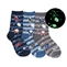 Tic Tac Toe Rocket Ship Glow in the Dark Boys Socks - 3 Pairs