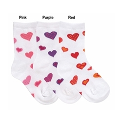 Jefferies Valentine Hearts Girls Socks - 1 Pair