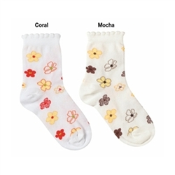 Jefferies Candy Flower Girls Socks - 1 Pair
