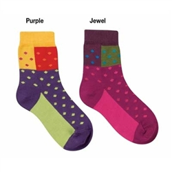 Jefferies Domino Girls Socks - 1 Pair