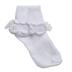 TicTacToe Sunflower Lace Girls Socks - 1 Pair