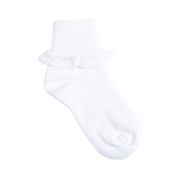 TicTacToe Organic Cluny Lace Anklet Girls Socks - 1 Pair