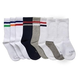 TicTacToe 3x1 Crew with Ribbed Welt and Stripes Boys Socks for Boys - 1 Pair
