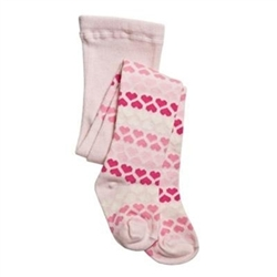 TicTacToe Heart Stripe Baby Girls Tights -1 Tights