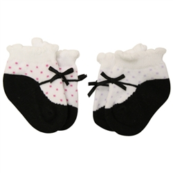 Jefferies Mary Jane Lilac Baby Socks with Dots - 2 Pair
